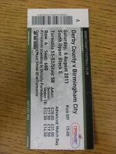 06/08/2011 Ticket: Derby County v Birmingham City  (folded). This item is in ver