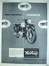 Vintage 1953 NORTON 'Dominator' Motor Cycle ADVERT #1 - Original Print AD