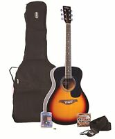 Vintage V300 VSBOFT Acoustic Guitar Package + Bag, Tuner, Strap, Pick & Strings