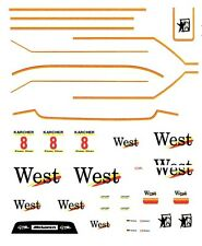 #8 West Mclaren F1 1995 1/32nd Scale Slot Car Waterslide Decals