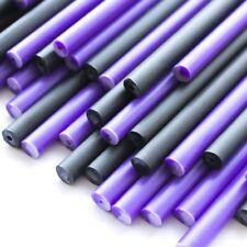 X500 púrpura poción Plástico Piruleta Palos 114 Mm x 4 mm Y Negro Halloween