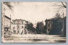 Noll's Cafe & Main Street NEWPORT Pennsylvania RPPC Antique Photo 1920