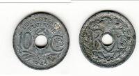 A SAISIR    10 CENTIMES ZINC 1945 B  dure a trouvé