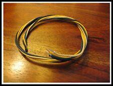Cablage guitare / Vintage guitar cloth wire Black/White/Blue/Yellow -  200cm