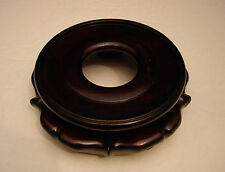 """5"""" VINTAGE CHINESE ROSEWOOD CARVED WOODEN STAND"""