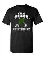 I'm A Hooker On The Weekends Fishing Fish Girls Funny Humor DT Adult T-Shirt Tee