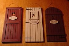 COUNTRY OUTHOUSE WELCOME PRIVY 3 Rustic Bathroom Door Signs Set Home Decor NEW