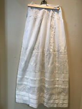 Gorgeous Lawn Victorian Skirt With Lace Insets