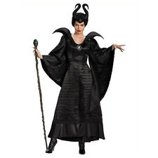 Women Black Sleeping Beauty Witch Queen Maleficent Costumes Halloween Outfit