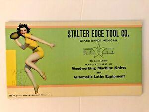 "ENOCH BOLLES "" having her fling "" - 1933 art  PIN-UP/CHEESECAKE  ink blotter"