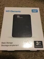 WD - Elements Portable 3TB External USB 3.0 Portable Hard Drive - black