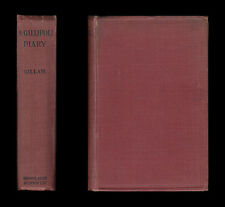 WWI 1919 Gillam GALLIPOLI DIARY Helles DARDANELLES 29th Division SUVLA BAY Turks