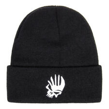 Blue Banana Punk Skull Gothic Unisex Winter Knitted Black Beanie Hat Accessory