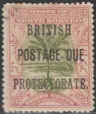 NORTH BORNEO 1902 BP POSTAGE DUE 3c SAGO PALM CTO