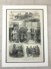 Life in Traditional Old Russia Russian Landscape Genuine Antique Print 1882