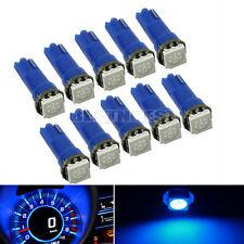 10×T5 5050 SMD 1LED Bleu Ampoule Lampe pour Voiture 12V Plastique Wedge Nouveau
