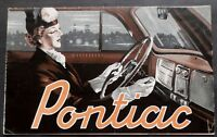 ORIGINAL 1938 PONTIAC 6 & 8 SALES FOLDER ~ DUTCH VERSION ~ 59cm x 43cm ~ P38DF