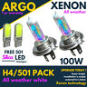 H4 100w Xenon White All Weather 501 Led Side light Headlight 472 Bulbs Hid 12v