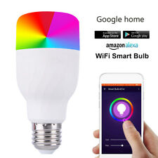 WiFi Remote Control Smart LED Bulb E27 / E26 B22 RGB Light For Alexa Google Home