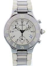 Cartier Chronoscaph 21 Stainless Steel 2424 Watch