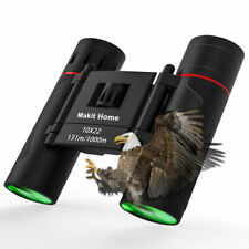 10x22 HD Zoom Folding Binoculars Outdoor Hunting Travel Low Light Night Vision
