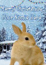 Lapin Carte de Noël scène carte pidk32 Carte de vœux personnalisée maman papa
