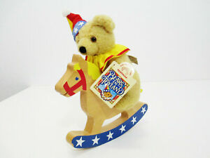 APPLAUSE Bears in Toyland Teddy on a Wood Rocking Horse Plush Stuffed Animal Toy