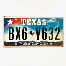 Untagged United States Texas Lone Star State Passenger License Plate BX6 V632