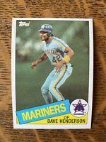 1985 SEATTLE MARINERS Topps COMPLETE Baseball Team Set 28 Cards HENDERSON OWEN