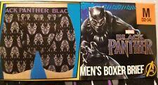 NEW MEN BLACK PANTHER BOXER BREIFS UNDERWEAR SIZE L 36/38 or 2XL MARVEL COMICS 1