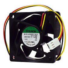 SUNON KD1206PTB1 60mm x 25mm 12v ball bearing Fan 3pin 3wire KD1206PTB1(2.)F.GN