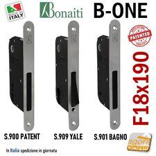 SERRATURA PORTA INTERNA MAGNETICA B-ONE BONAITI S900 FRONTALE 18X190MM E50 I7090