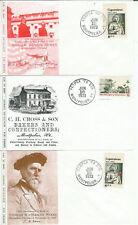 Montpelier Vermont Stamp Shows Verpex Set Of 3 1973 Thomas Wood Adm George Dewey