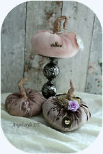 Handmade Luxurious Pumpkins, Set Of 3, Pink color, Shabby chic