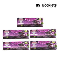 HORNET Fruit GRAPE Flavored 78MM Cigarette Rolling Paper 1 1/4 Size (5 Packs)