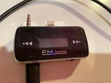 FM Radio Transmitter Lighting Aux Adapter Used