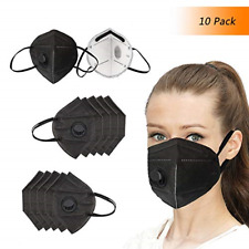 Winko Disposable Dust Mask N95 Black Face Mouth Masks with Filter/Respirator, 7