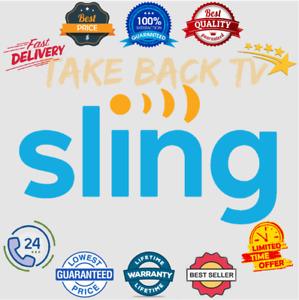 SlingTV   0range   Blue   For 1 Year