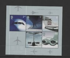 GB 2002 Airliners M/S MNH postage stamps