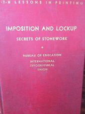 New listing Imposition And Lock Up Secrets Of Stonework I T U 1940