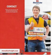 STENA LINE FREIGHT TRUCK DRIVERS BROCHURE DISCOUNT & ROUTE MAP STENA SHOPS