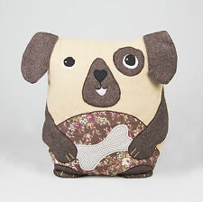 Dog Shaped Cushion & Inner Animal Themed Novelty Cotton Pillow by Sass & Belle