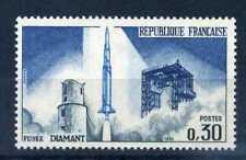 Francia 1965 timbre 1464, Fusée Diamant, Neuf **, espacio, sello estampillada sin montar o nunca montada