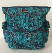 NWT Hadaki by Kalencom New Orleans City Backpack Teal Blue Floral BEAUTIFUL