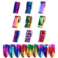 9 Rolls Gradient  Sky Nail Art Foil Paper Stickers Decals Tips Nails Tools