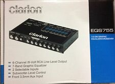 "Clarion EQS755 7-Band Graphic Equalizer 1/2-DIN Chassis 1"" tall Brand New Low $$"