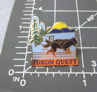 1987 Yukon Quest Lapel Pin Dog Sled Race Whitehorse Yukon to Fairbanks Alaska