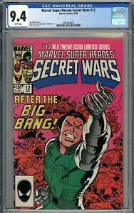 Marvel Super Heroes Secret Wars #12 CGC 9.4 NM WHITE PAGES