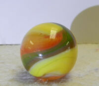 #13051m Vintage Akro Agate Hybrid Popeye Marble .64 Inches Mint