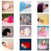 KQ_ Toddler Newborn Baby Girl Tu-tu Skirt & Headband Photo Prop Costume Outfit H